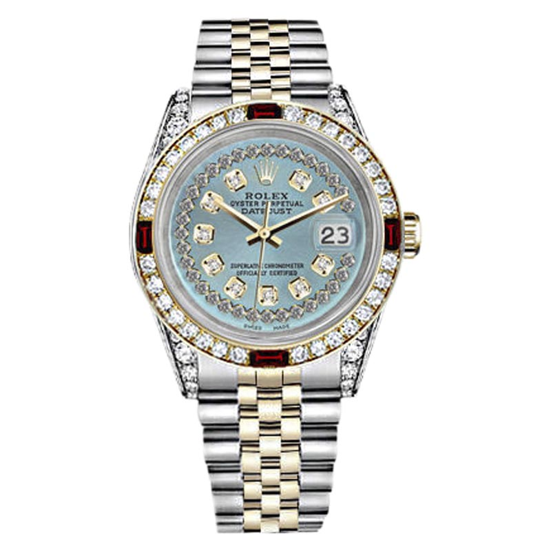 "Image of ""Rolex Datejust Stainless Stainless Steel & 18K Yellow Gold Blue Dial"""