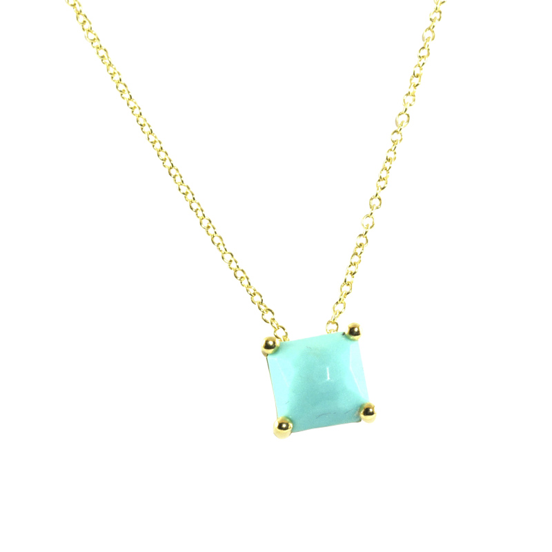"Image of ""Ippolita 18K Yellow Gold Turquoise Sliding Pendant Necklace"""