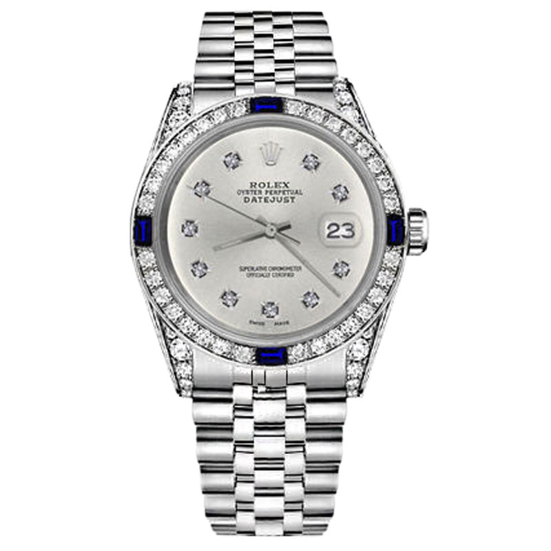 "Image of ""Rolex Datejust Silver Color Dial with Sapphire & Round Diamond 31mm"""