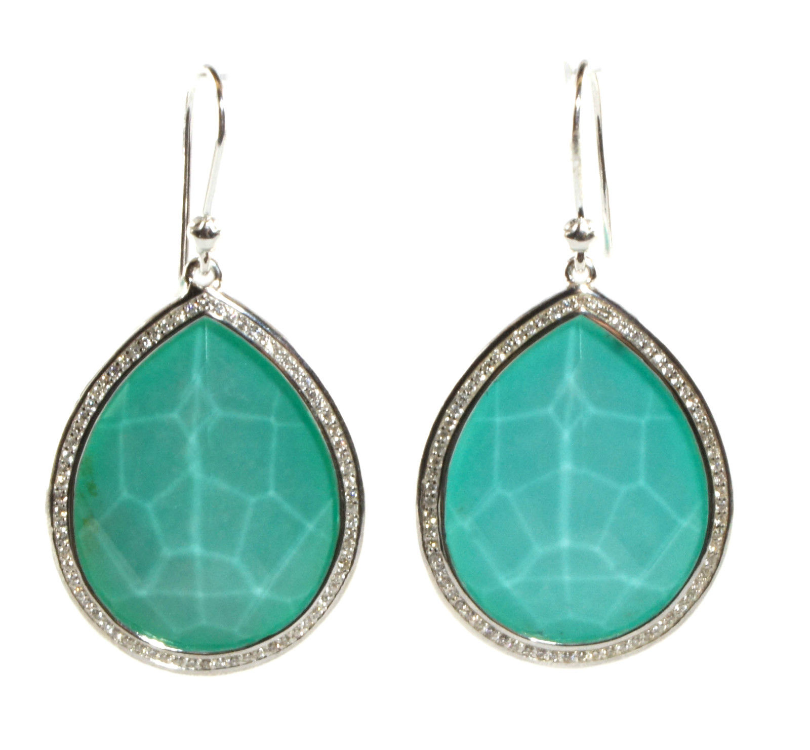 "Image of ""Ippolita Sterling Silver Turquoise and 0.58 Ct Diamond Teardrop"""
