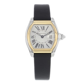Cartier Roadster W62026Y4 18K Yellow Gold & Stainless Steel & Leather Quartz 31mm Womens Watch