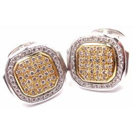Patek Philippe Nautilus 18K Yellow White Gold Diamond Cufflinks