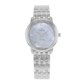 Omega DeVille 424.10.27.60.57.001 Stainless Steel & Diamonds Quartz 27mm Womens Watch
