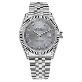 Rolex Datejust Stainless Steel with Black Dial 36mm Unisex Watch