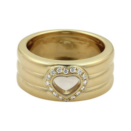 Chopard 18K Yellow Gold and 0.05ct Diamond Band Ring Size 5.5