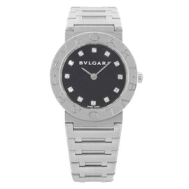 Bulgari Diagono BB28SS Stainless Steel & Diamonds Quartz 26mm Womens Watch