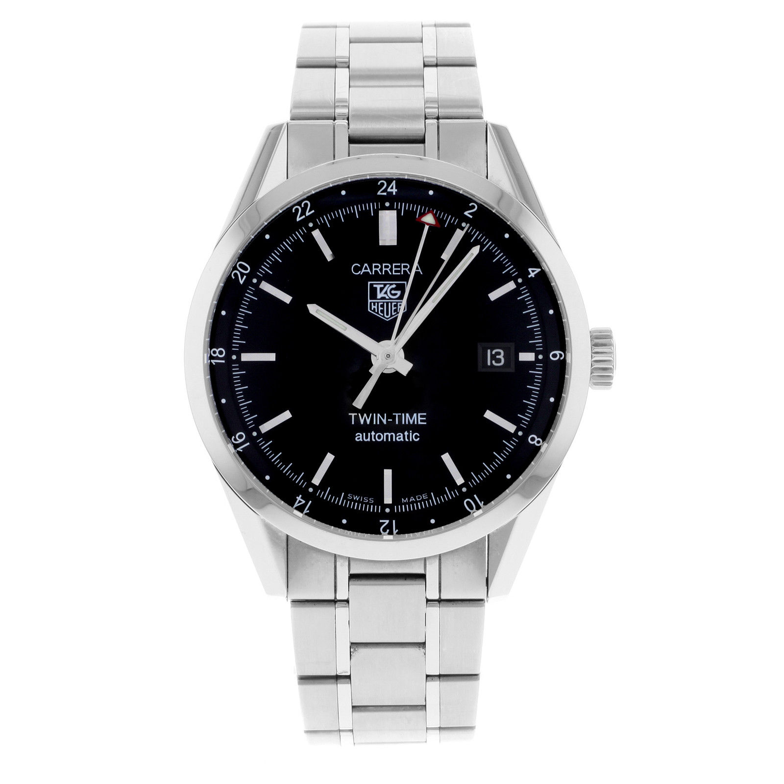 """Image of """"Tag Heuer Carrera Wv2115.ba0787 Stainless Steel Automatic 39mm Mens"""""""