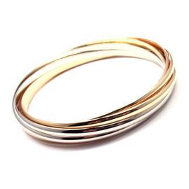 Cartier Trinity 18K Tri-Color Gold Bands Bangle Bracelet