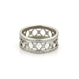 Tiffany & Co. Voile Platinum and 0.55ct Diamond Ring Size 7