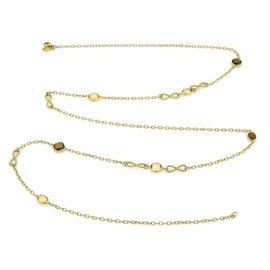 David Yurman 18K Yellow Gold Citrine & Smokey Topaz Long Necklace
