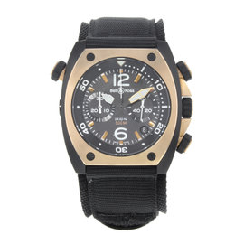 Bell & Ross Marine BR02-CHR-BICOLO Matte PVD Black Steel Automatic 44mm Mens Watch