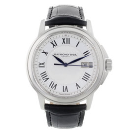 Raymond Weil 5578-STC-00300 Stainless Steel with White Dial 42mm Mens Watch