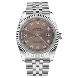 Rolex Datejust Stainless Steel Salmon Color Dial with Diamond Accent RT 26mm Womens Watch