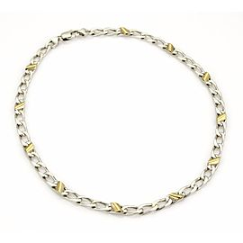 Tiffany & Co. 925 Sterling Silver & 18K Yellow Gold Accent Curb Link Chain