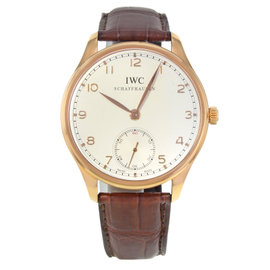 IWC Portuguese IW545409 18K Yellow Gold Manual Wind 44mm Mens Watch