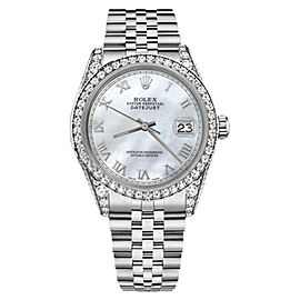 Rolex Datejust White Mother Of Pearl Roman Numeral Dial 26mm Unisex Watch