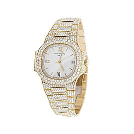 Patek Philippe Nautilus 3800/001 18K Yellow Gold 17.5mm Womens Watch
