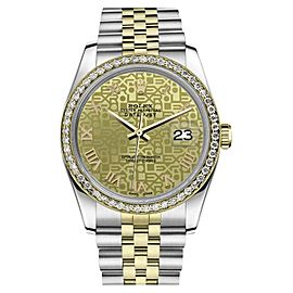 Rolex Datejust Stainless Steel/ 18K Gold Champagne Dial Automatic 26mm Womens Watch