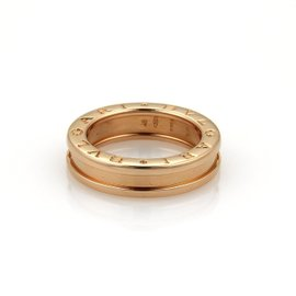 Bulgari Bvlgari B Zero-1 18K Rose Gold Band Ring Size 4.5