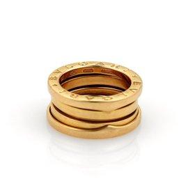 Bulgari Bvlgari B-Zero 1 18K Rose Gold Band Ring Size 4.25