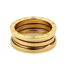 Bulgari 18K Yellow Gold B Zero 1 France Band Ring Size 6.75