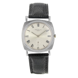 Patek Philippe 18K White Gold & Leather Automatic Vintage 33mm Men's Watch