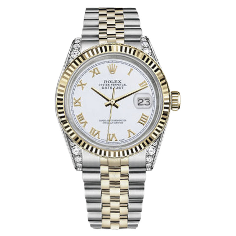 "Image of ""Rolex Datejust Stainless Steel & 18K Gold with White Dial 31mm Unisex"""