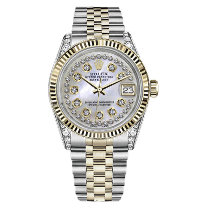 """Image of """"Rolex Datejust Stainless Steel & 18K Gold with White Mother Of Pearl"""""""