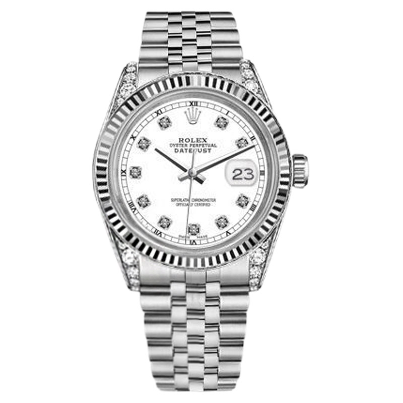 """Image of """"Rolex Datejust Stainless Steel with White Dial 31mm Unisex Watch"""""""