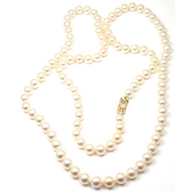 Mikimoto 18K Yellow Gold with Cultured Akoya Pearl Necklace