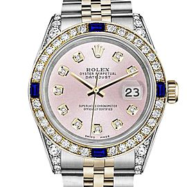 Rolex Datejust Metallic Pink Dial with Sapphire & Diamond Bezel 26mm Unisex Watch