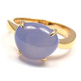 Bulgari Mediterranean Eden 18K Yellow Gold with Calcedony Ring Size 6