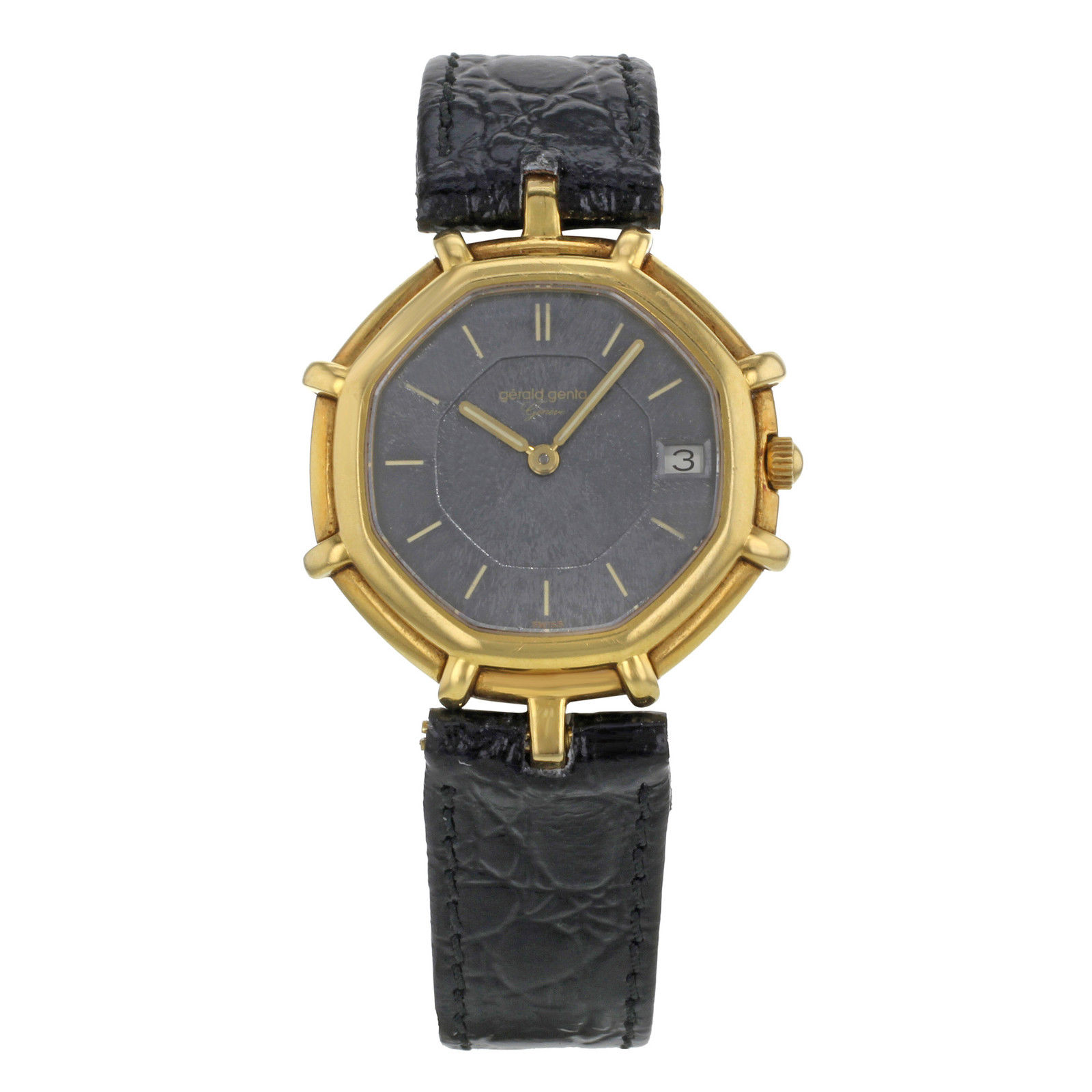 "Image of ""Gerald Genta G2850.7 18K Yellow Gold & Leather Quartz 31mm Womens"""