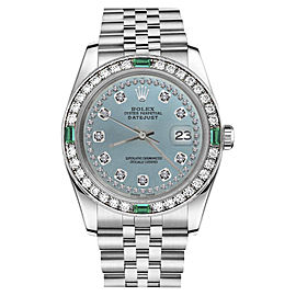 Rolex Datejust Stainless Steel With Ice Blue Dial 31mm Womens Watch