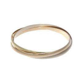 Cartier Trinity 18K Yellow White & Rose Gold Bangle Bracelet
