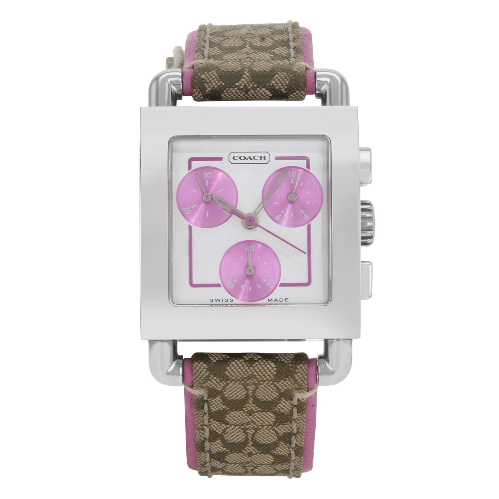 """Image of """"Coach 0253 Stainless Steel & Leather Quartz 29mm Womens Watch"""""""