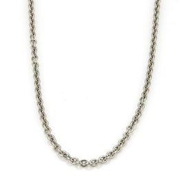 Bulgari Bvglari 18K White Gold Oval Link Chain Necklace