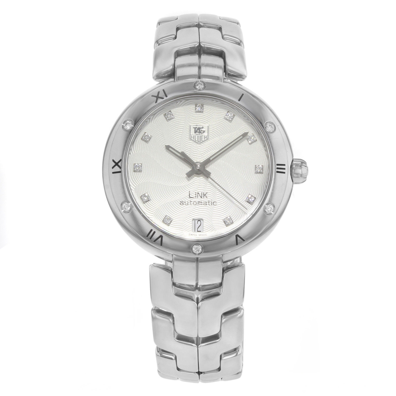 "Image of ""Tag Heuer Link Wat2312.ba0956 Stainless Steel & Diamonds Automatic"""