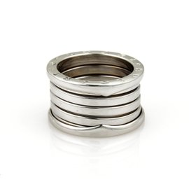 Bulgari Bvlgari B Zero-1 18K White Gold Band Ring Size 7