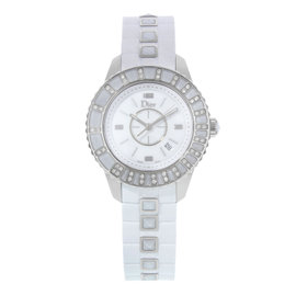 Christian Dior Christal CD113112R001 Stainless Steel & Diamonds Quartz 34mm Womens Watch