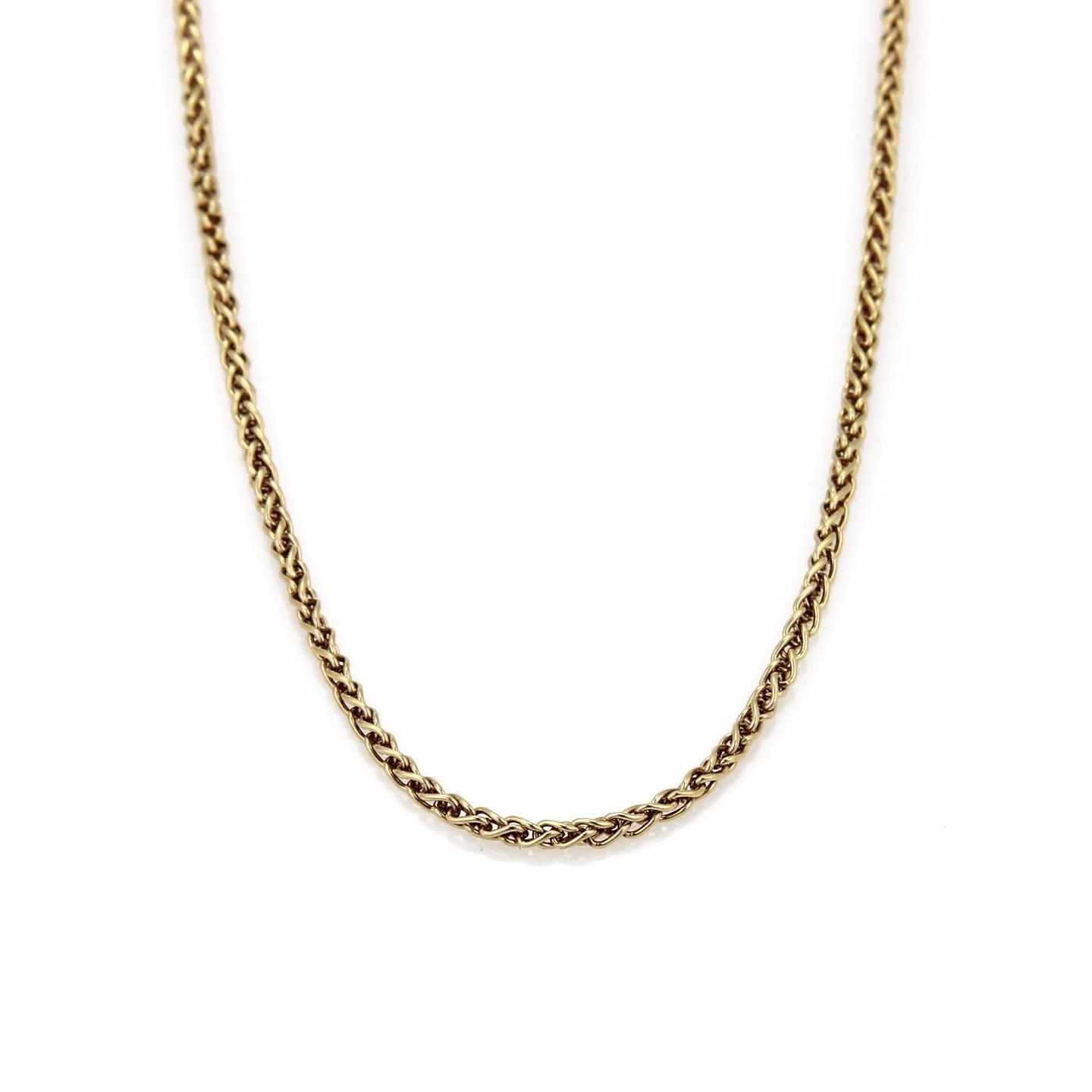"""Image of """"Chopard 18K Yellow Gold Woven Link Chain Necklace"""""""