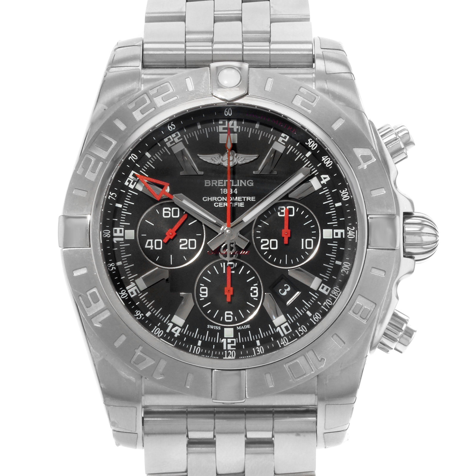 "Image of ""Breitling Chronomat GMT Ab041210/bb48-384A Stainless Steel Automatic"""