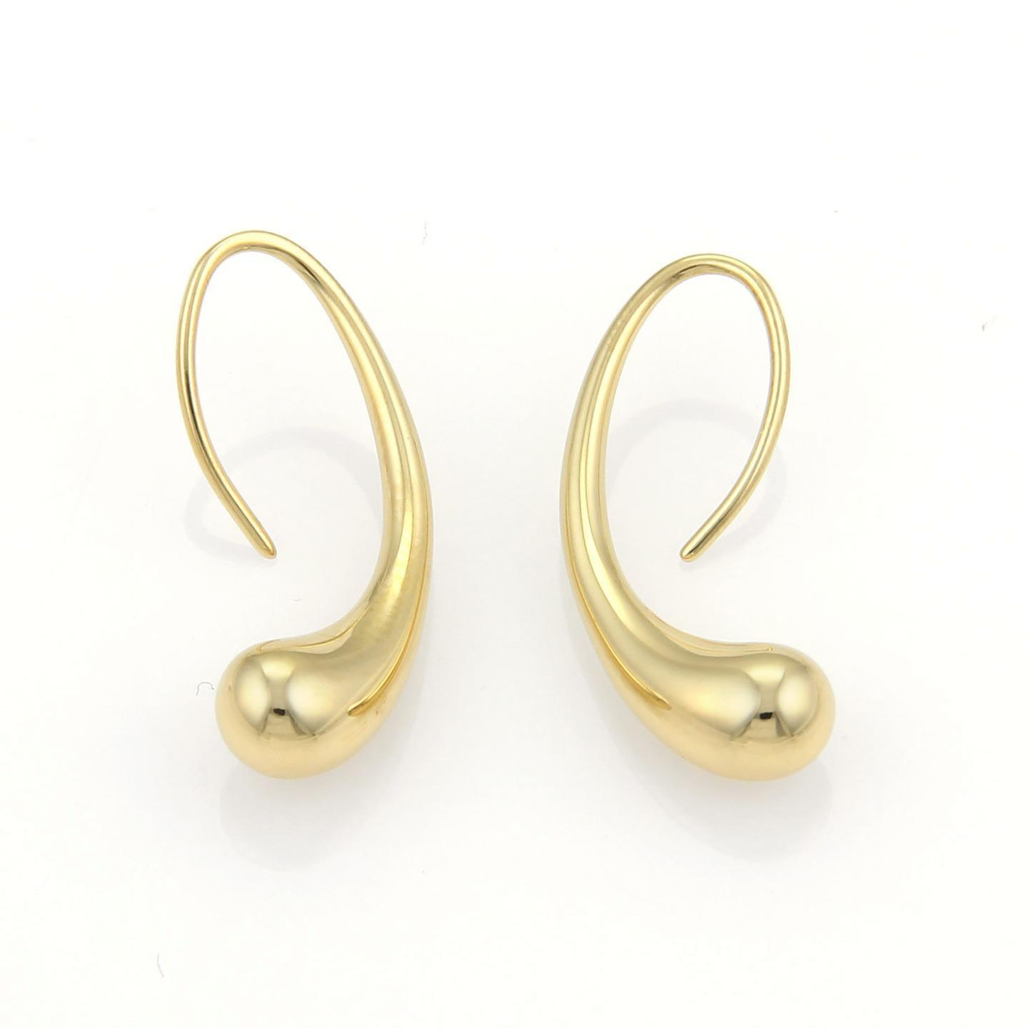 "Image of ""Tiffany & Co. 18K Yellow Gold Tear Drop Hook Dangle Earrings"""