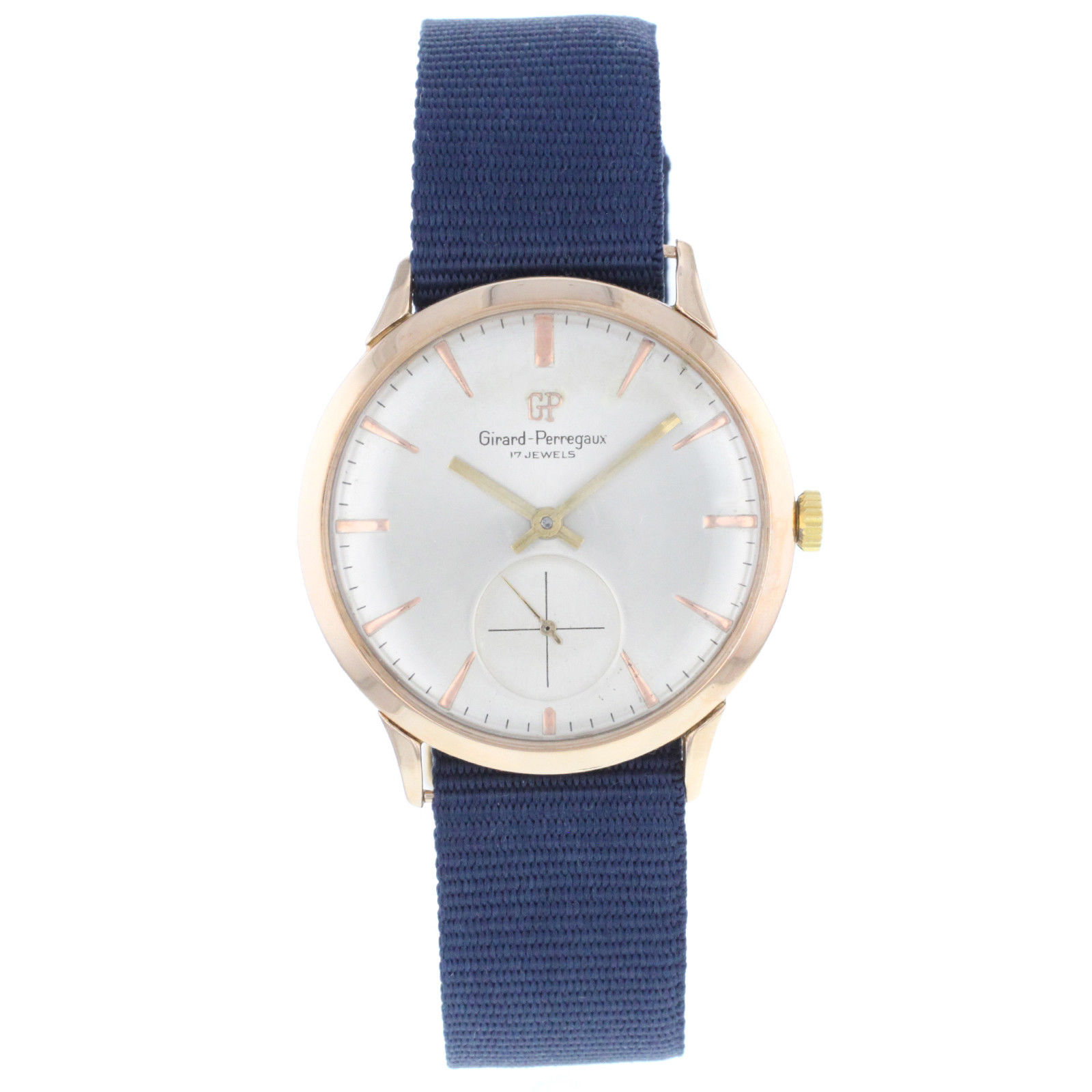 "Image of ""Girard-Perregaux 18K Rose Gold Hand-Winding Vintage 36mm Mens Watch"""