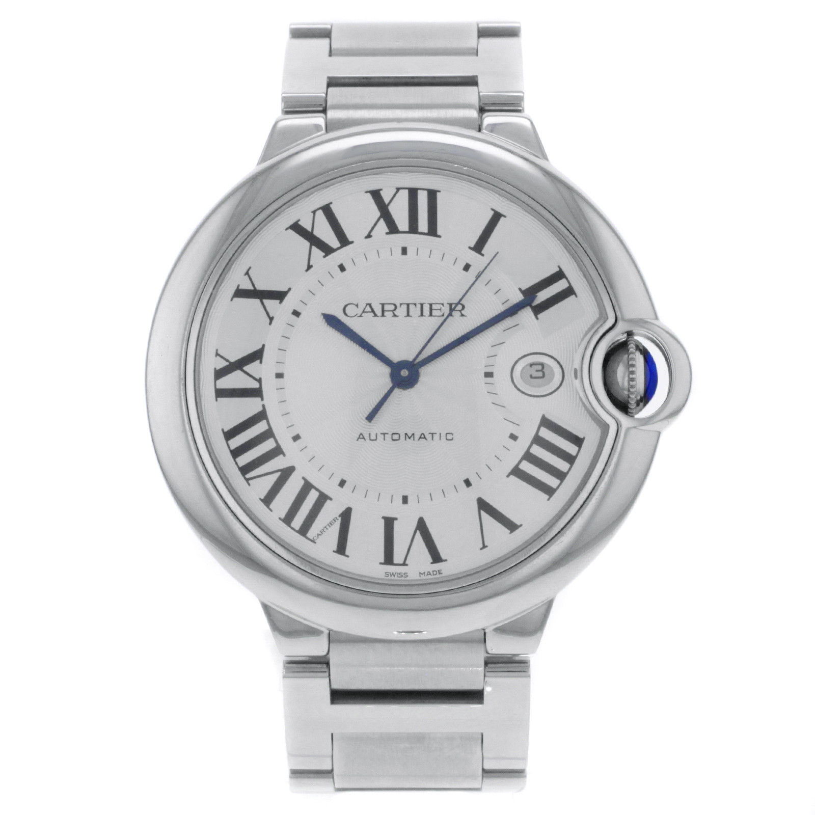 Cartier Ballon Bleu W69012Z4 Stainless Steel Automatic 42mm Mens Watch