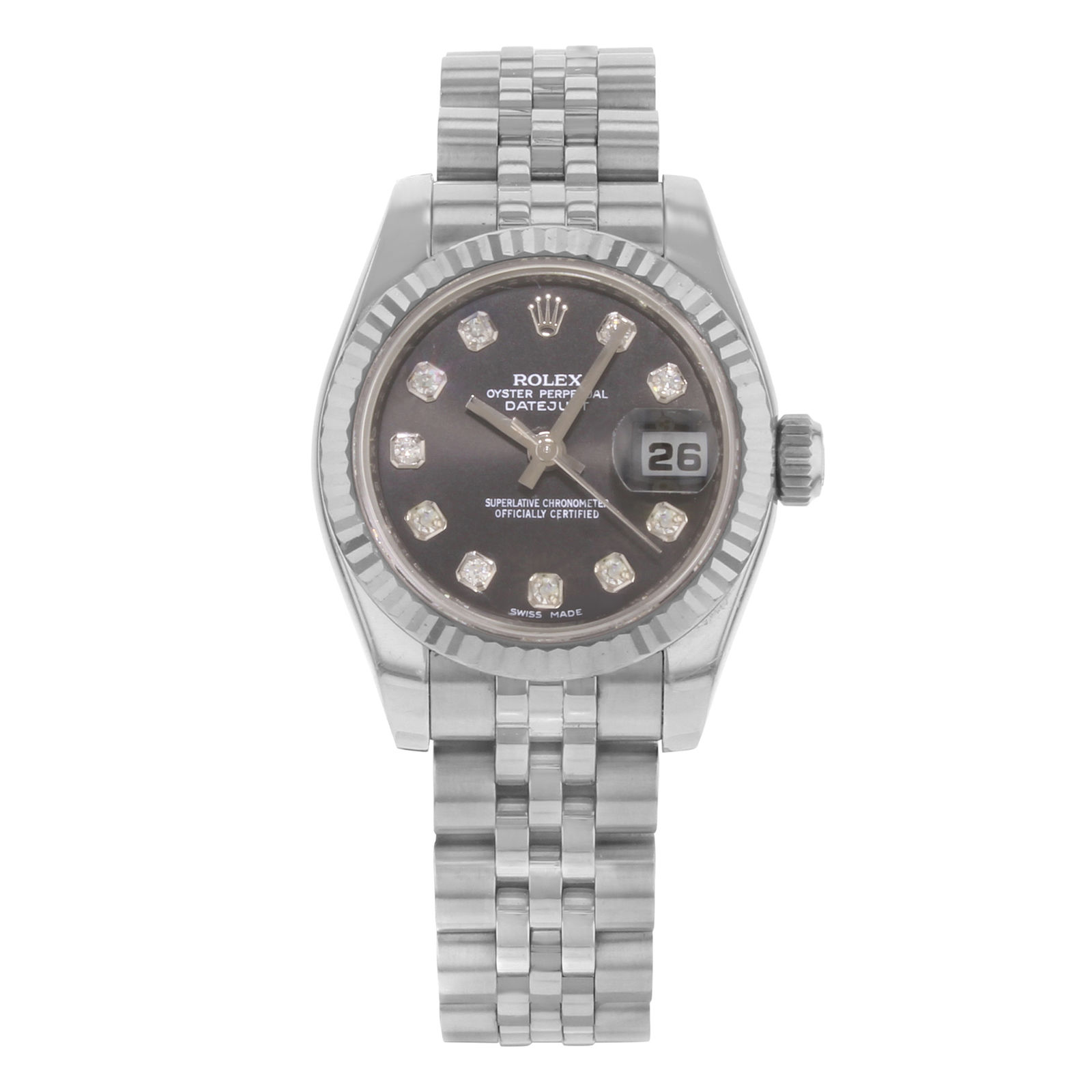 """Image of """"Rolex Datejust 179174 18K White Gold & Stainless Steel Automatic 26mm"""""""