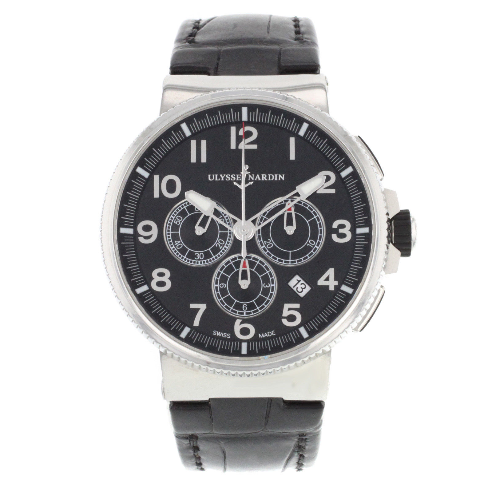 "Image of ""Ulysee Nardin Marine 1503-150 Stainless Steel Automatic 43mm Mens"""