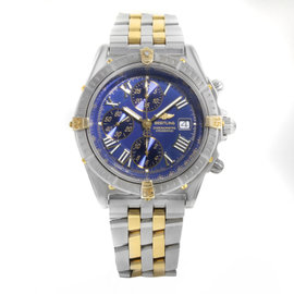 Breitling Crosswind D13355 18K Yellow Gold and Stainless Steel Automatic 43mm Mens Watch