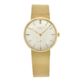 Patek Philippe 18K Yellow Gold Manual 33mm Mens Vintage Watch