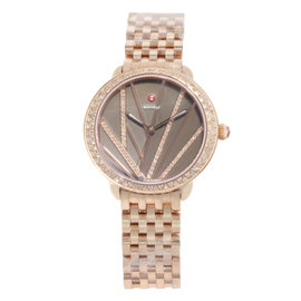 Michele Serein MWW21B000113 0.67ct. Diamonds Rose Gold Tone Stainless Steel Quartz 36mm Womens Watch